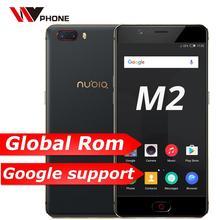 Globale Rom Original Nubia M2 4G LTE Handy MSM8953 Octa Core 5,5 zoll Dual Hinten 13.0MP Große Batterie fingerprint ID