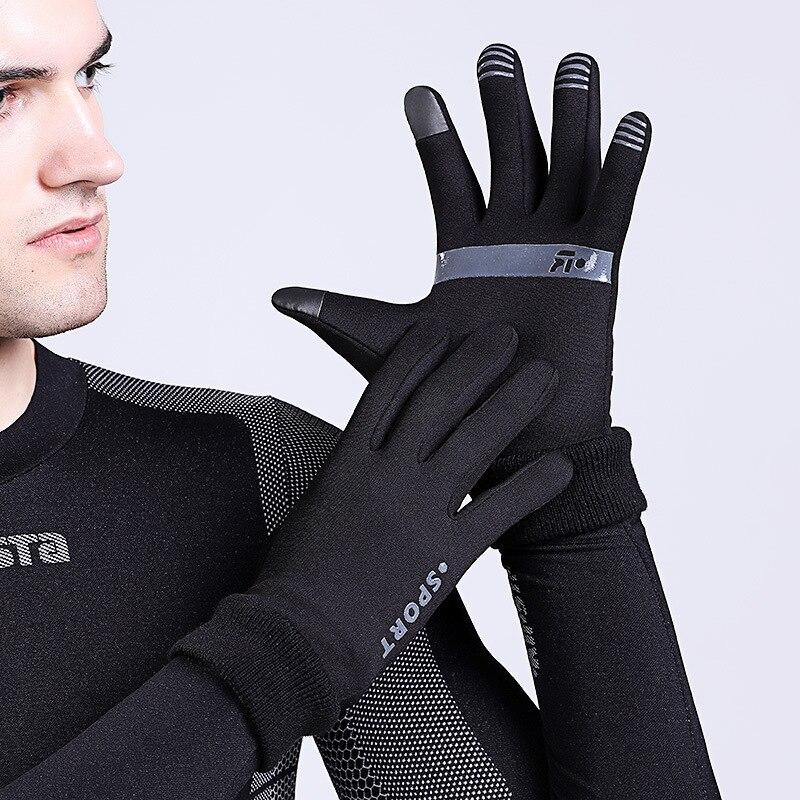 Открытый Спортивные перчатки Бег зима Для мужчин Для женщин Сенсорный экран Лыжный Спорт теплый ветрозащитный Велоспорт Пеший Туризм Мото...