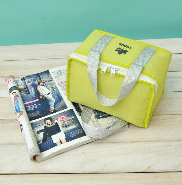 Custom Cooler bag Yellow Oxford Durable Lunch bags promotional bags