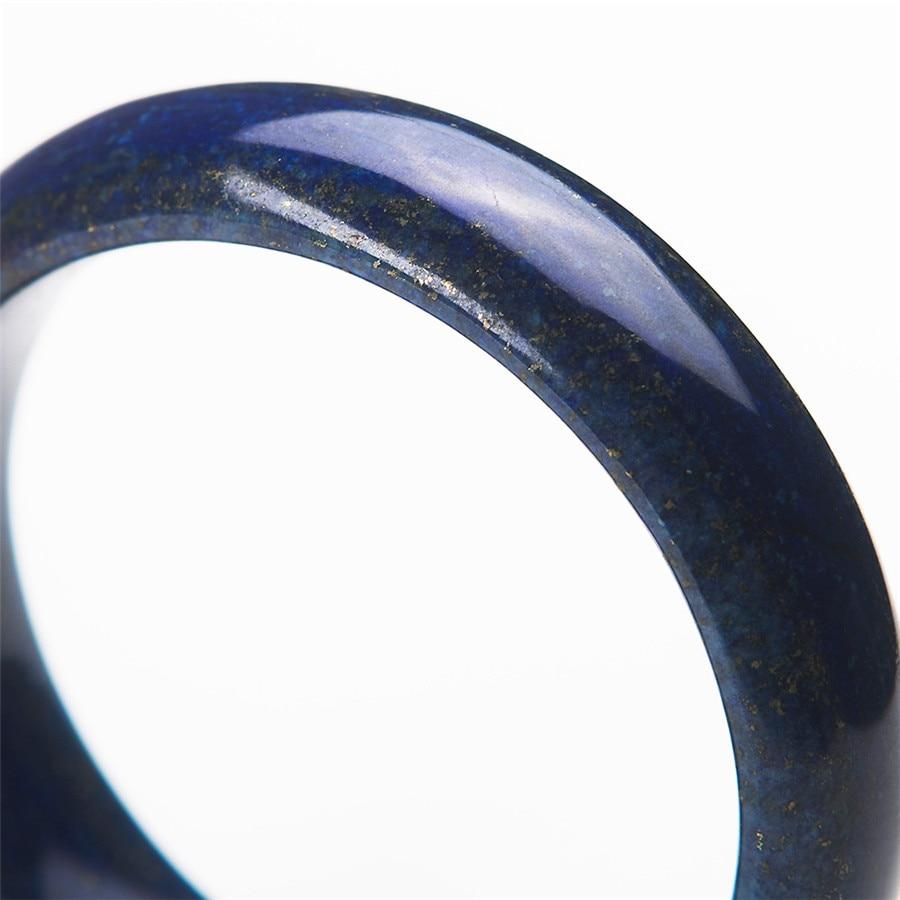 2017 bracelets en pierre naturelle de mode pour les femmes cadeau de la mère véritable bleu or Lapis Lazuli bracelet diamètre intérieur 56mm - 5