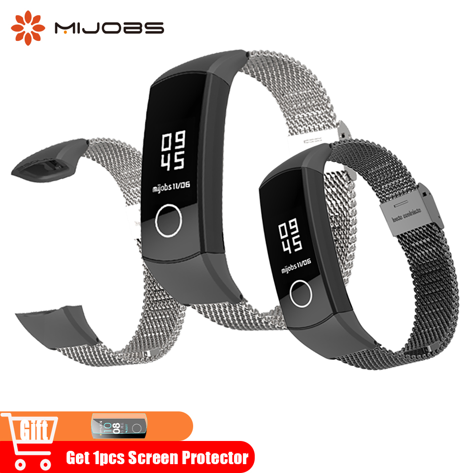 Mijobs Milanese Metal Strap for Huawei Honor Band 4 Smart Wristband Stainless Steel Bracelets Accessories for Honor Band 4 WatchMijobs Milanese Metal Strap for Huawei Honor Band 4 Smart Wristband Stainless Steel Bracelets Accessories for Honor Band 4 Watch
