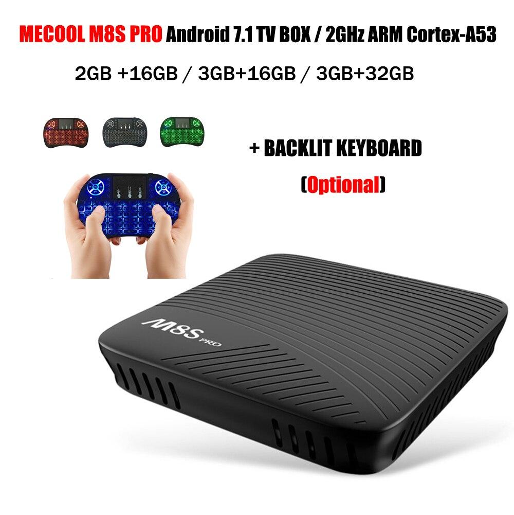 MECOOL M8S PRO Android 7.1 OS TV Box Amlogic S912 2.4G/5G WiFi 64bit 4K Media Player 2GB/3GB 16GB Smart Set Top Box PK X92