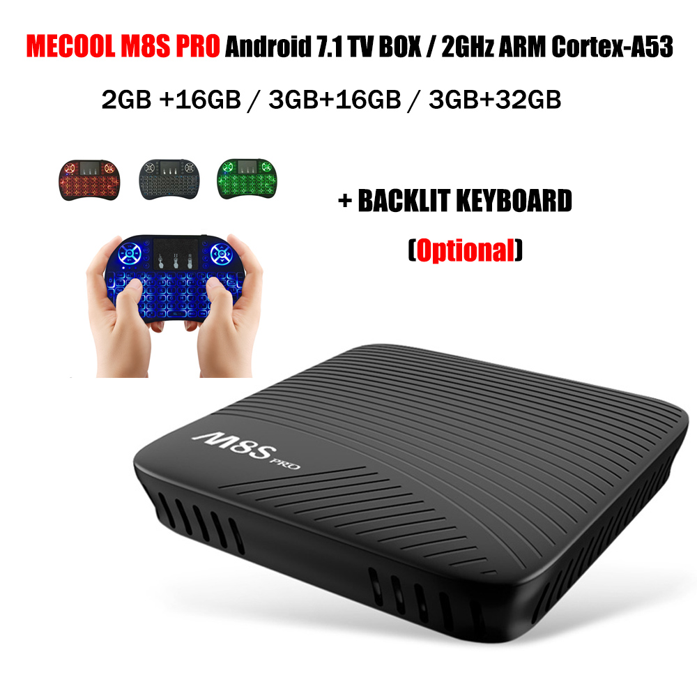 mecool m8s pro android 7 1 os tv box amlogic s912 2 4g 5g. Black Bedroom Furniture Sets. Home Design Ideas