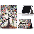 Drop shippingSimpleStone Tree Of Life Painted Leather Stand Flip Case Cover For iPad 6 Air 2 May30 mosunx