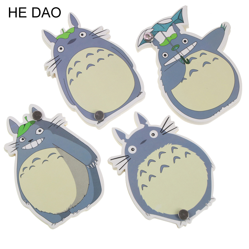 Novelty Cute My Neighbor Totoro Memo Pad Loose Leaf Notepad Mini Memo Notepad Bookmark School Office Supply Gift Statioery muji style empty page blank kraft paper 100 pages notepad word study card portable memo pad loose leaf notes diy notepad