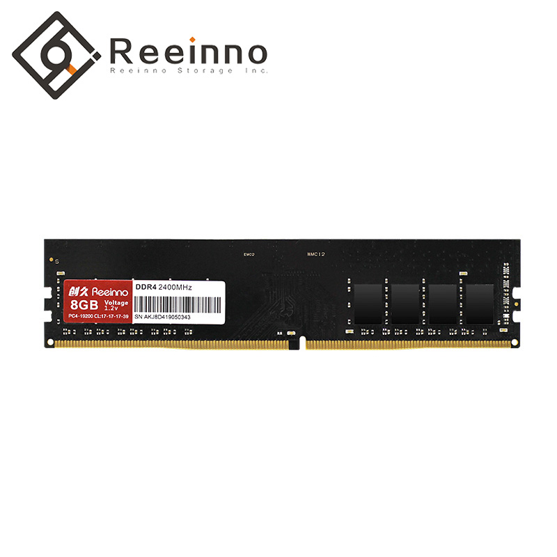 Reeinno Ram Memory DDR4 4GB/8GB 2400MHz 1.2V 288pin PC4-19200 17-17-17-39 CL=17 Interface high speed single Ram for Desktop