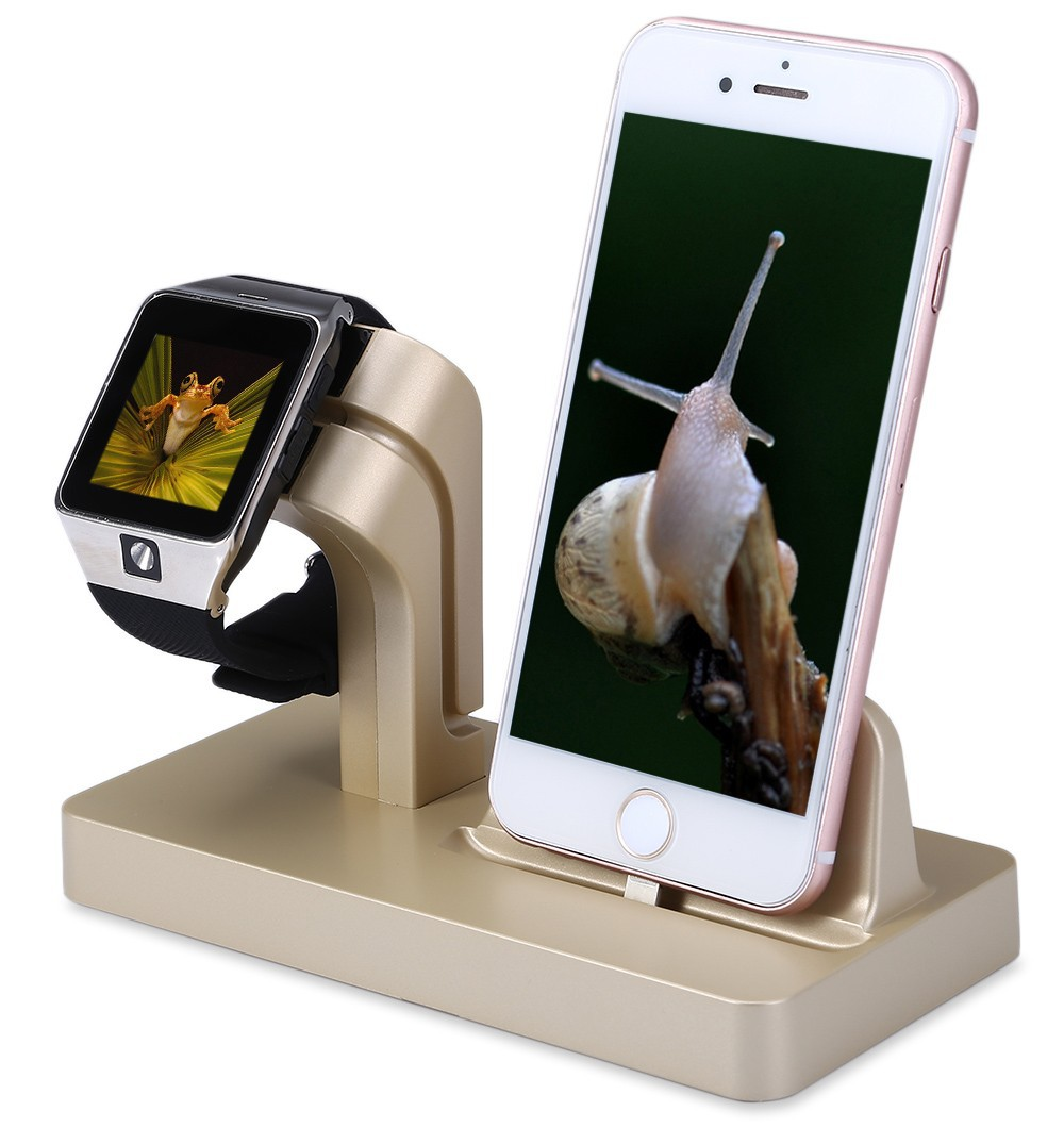 2 in 1 Charging Bracket Holder Charger Dock Display Cradle For iPhone 6 6s 5 5s