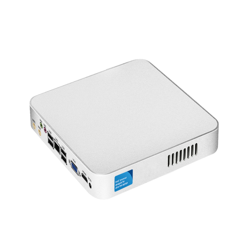 Mini PC Windows 10 Intel Celeron N3160 Quad-core Up to 2.24GHz Fanless UNC Thin Client Nettop TV Box HTPC HDMI 300M WiFI x26 mini pc windows 10 intel celeron n2810 2 0ghz thin client nettop minipc tv box hdmi vga video output wifi micro desktops