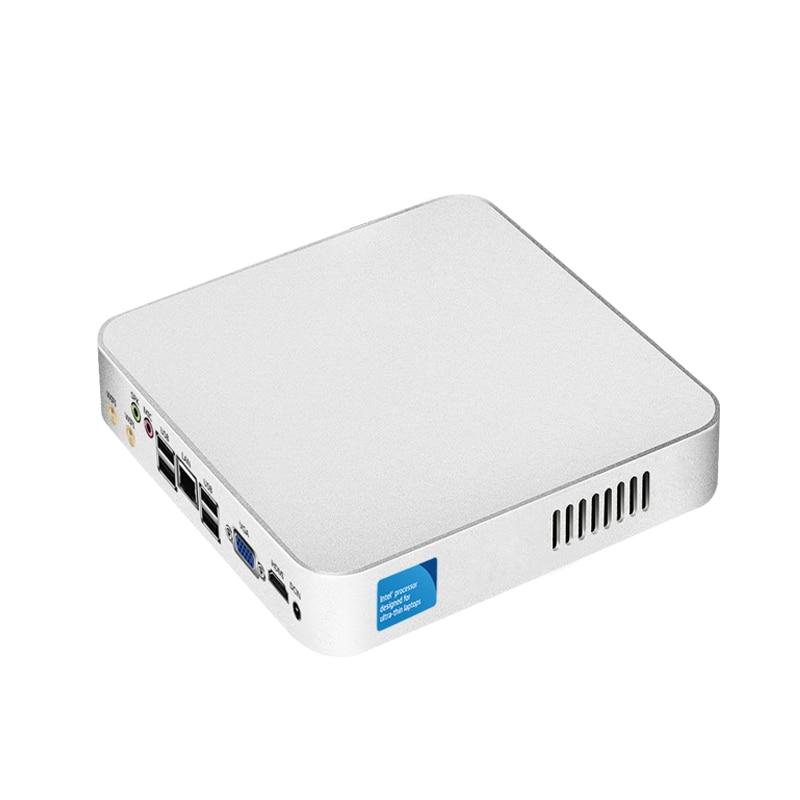 Mini PC Windows 10 Intel Celeron N3160 USB 2.0 HTPC HDMI WiFI Quad-core 2.24GHz Fanless Thin Client Nettop Computer Tables Case thin client htpc nettop intel celeron n3150 quad core 4 usb 3 0 300m wifi hdmi lan vga fanless mini pc