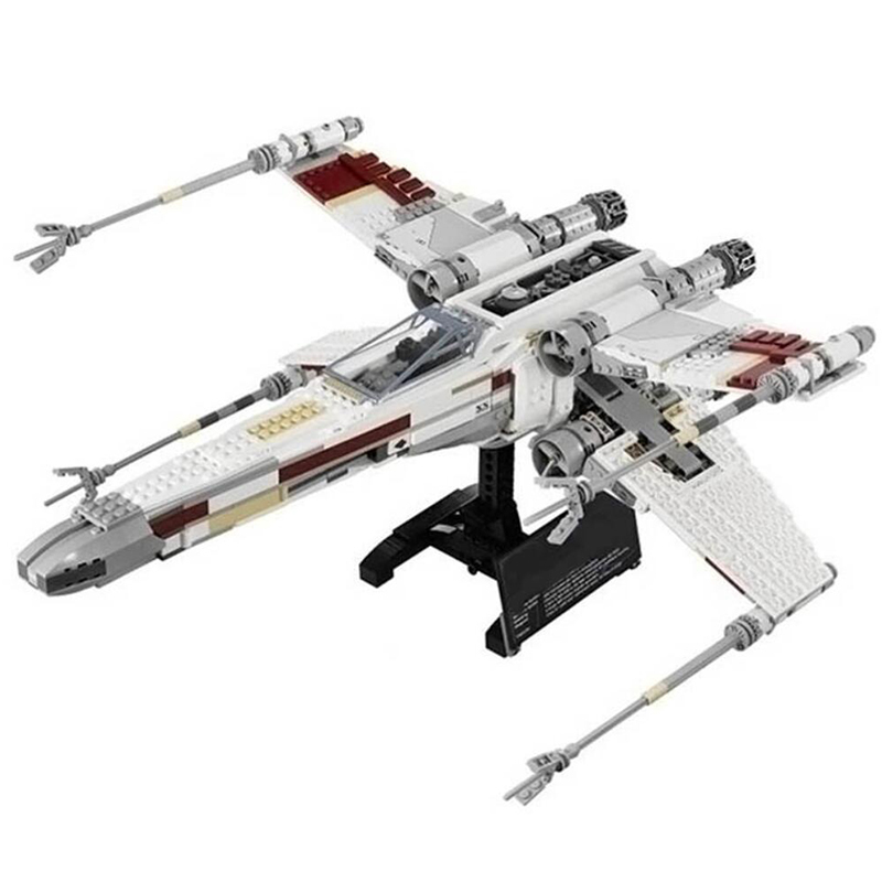 Star Cool Model Wars DIY1586Pcs Red Five X Starfighter wing Building Blocks Bricks toy Compatible with legoingly for Boy gifts 75102 star wars 7 red five poe s x wing starfighter tie fighter original blocks bricks building kits compatible with legoe