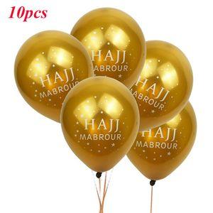 Image 2 - 10 adet Eid Mubarak balonlar ramazan malzemeleri balonlar İslam yeni yıl dekor ramazan Kareem müslüman festivali dekorasyon balonu