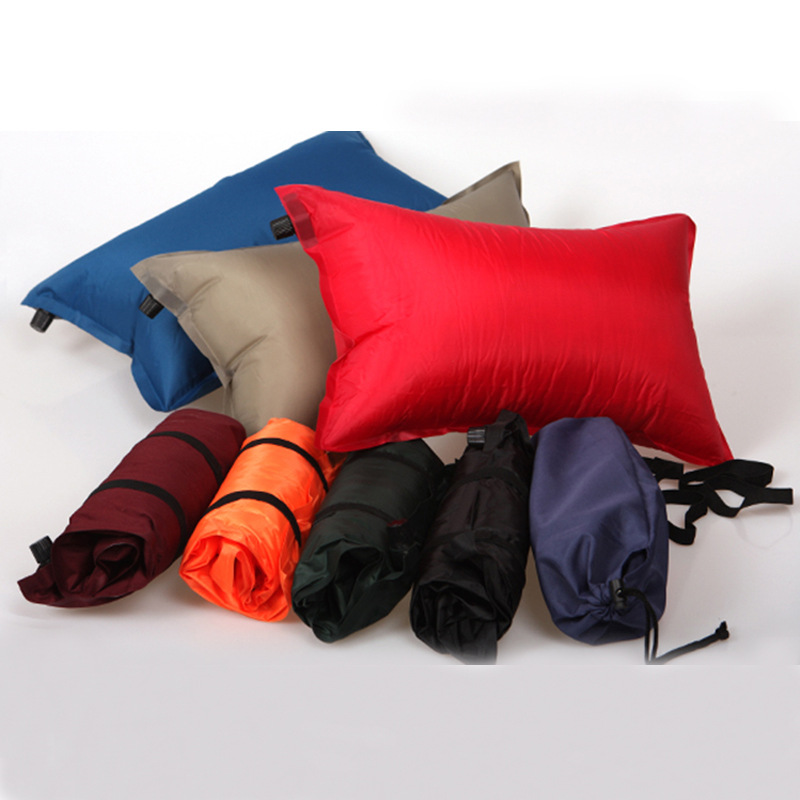 Image 2 - VILEAD Portable Inflatable Camping Pillow Travel Plane Hotel Sleep Outdoor Hiking Dropshipping Ultralight Comfortable 45*25 cm-in Camping Pillows from Sports & Entertainment