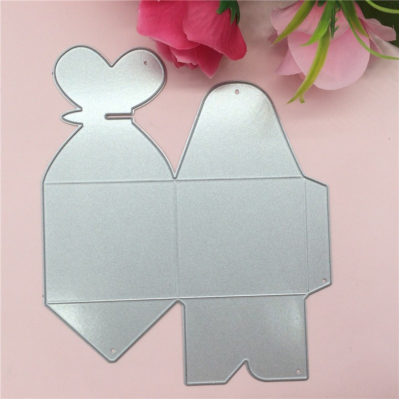 Lovely Wedding font b Box b font metal die cuts metal cutting dies scrapbooking suit for
