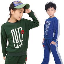 2016 Autumn Winter Kids Clothes Tracksuits Fashion Boys Girls Clothing Set Double-Sided Wear Thick Sports Suit Children Clothing