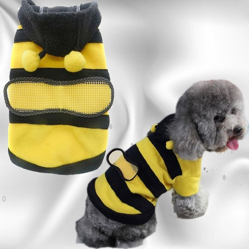 d95f90488055 Dogs Pets Clothing Clothes Cute Fleece Bumble Bee Lovely Wings Dog ...