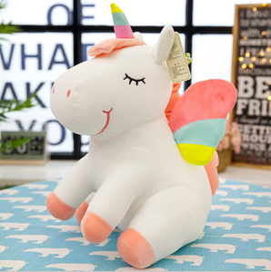 25CM New Soft Cute Rainbow Style Unicorn Toy Plush Toys Animals Horse Children Toys Baby Dolls Birthday Gifts(China)