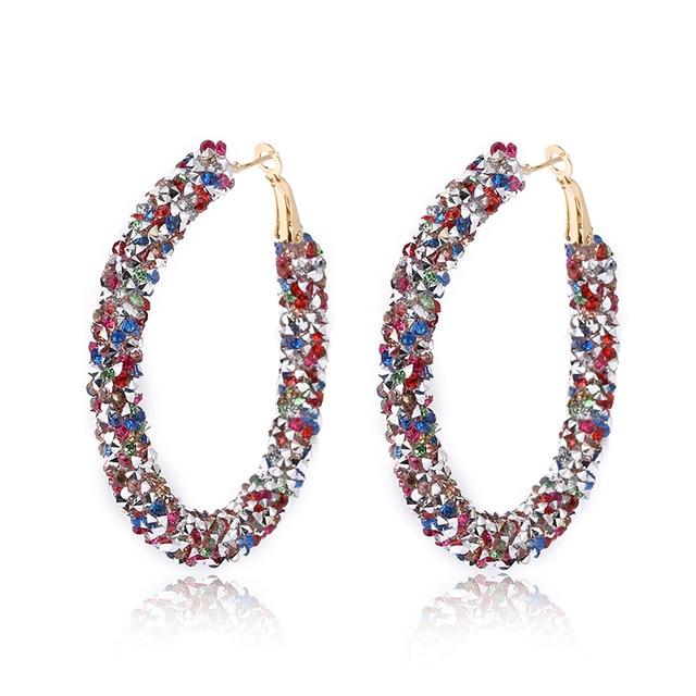 Lzhlq 2 пары женские серьги капли круглые кольца ювелирные изделия