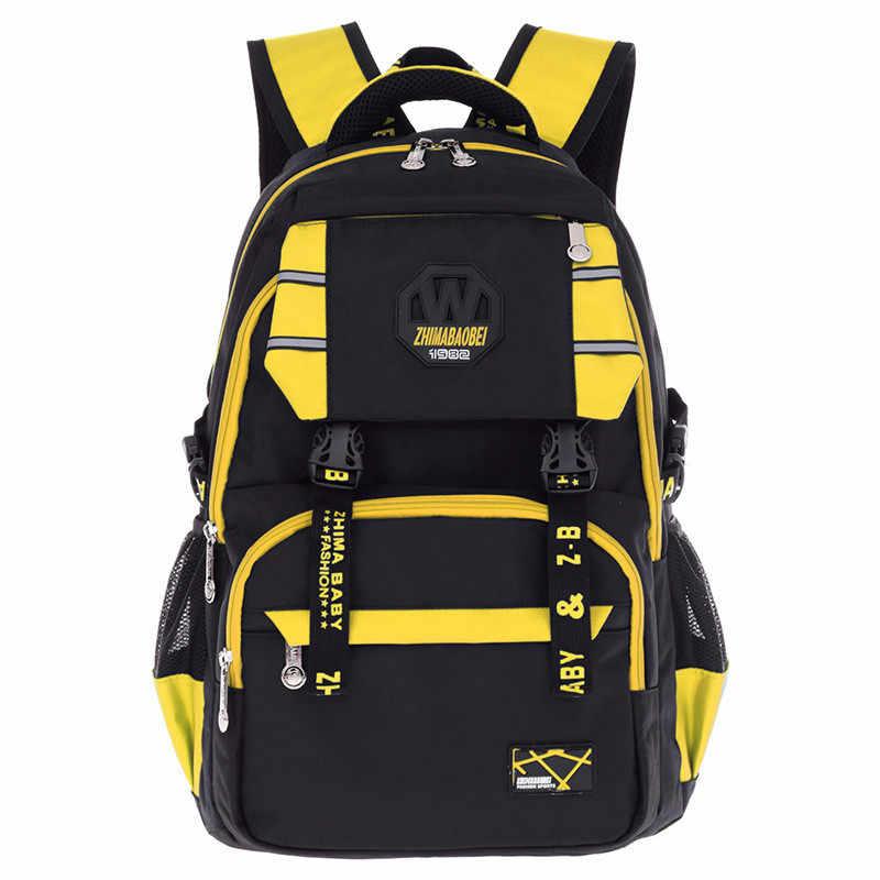 2019 новые детские ортопедические школьные сумки для мальчиков и легкие носимые нейлоновые школьные сумки для подростков Воздухопроницаемый рюкзак