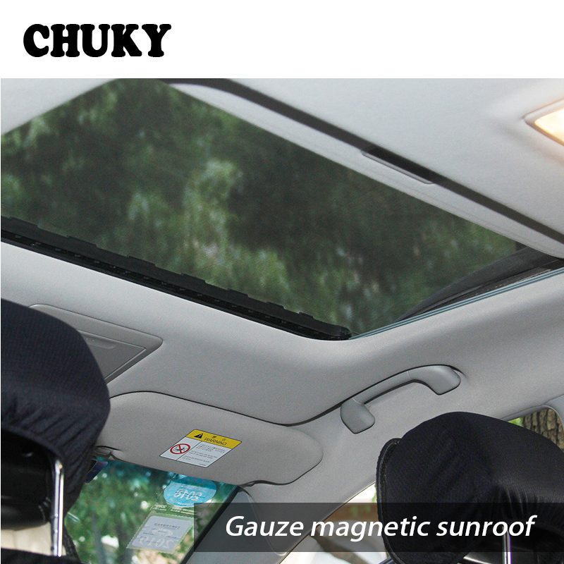 CHUKY Car Sunroof Window Cover Sun Visor Mesh Mosquito Dust Protection For BMW E36 F30 F10 E30 X5 Ssangyong Volvo XC90 V70 XC60