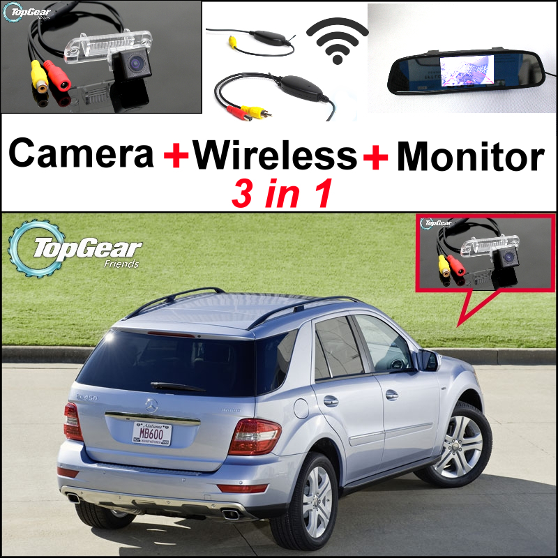 For Mercedes Benz ML450 ML350 ML300 ML250 ML63 AMG3in1 Special WiFi Camera + Wireless Receiver + Mirror Monitor Parking System 3 350 250 1137874