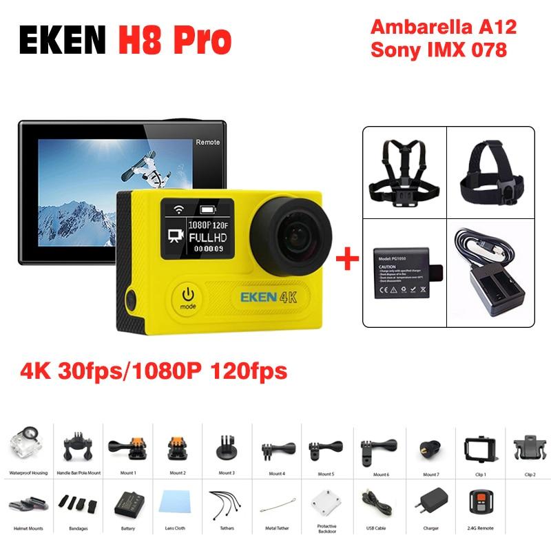 New arrival original Eken H8 Pro action camera 4 k 30fps action cam 120fps 30M sport