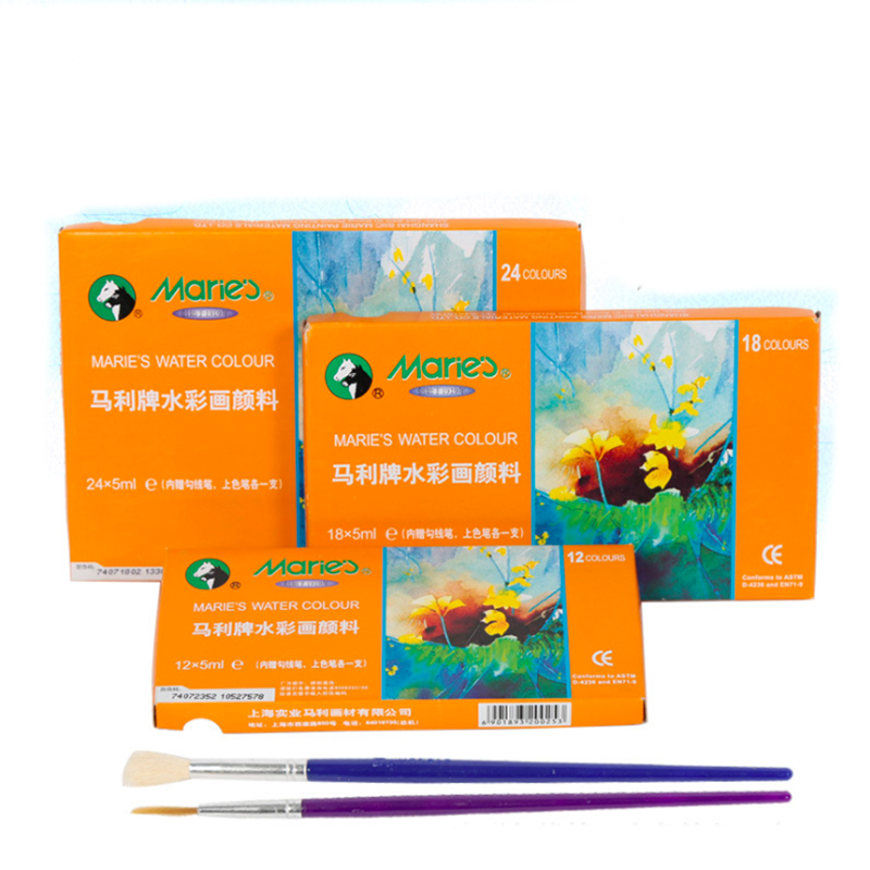 Watercolor Painting Paint Set High Quality Transparent 5ML Watercolor Pigment For Artist School Student