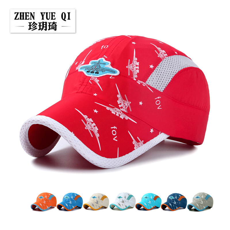 Aircraft Embroidery Shade Baseball Hat Tour, Sunscreen Hat Children Summer Camp Tour Hat(China)