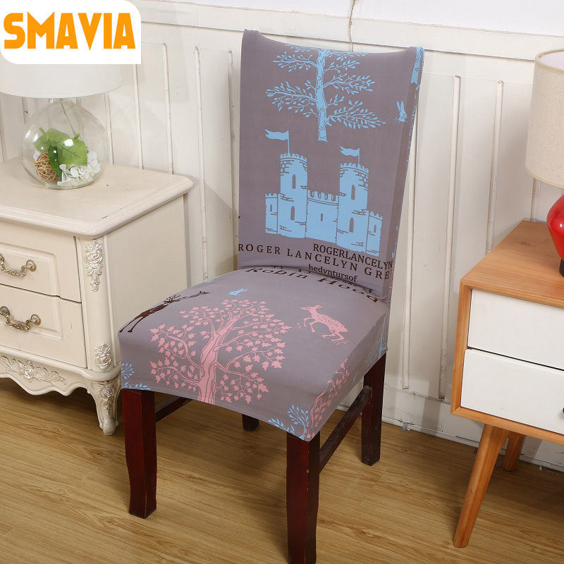 SMAVIA Hot Sale Spandex Elastic Dining <font><b>Chair</b></font> <font><b>Cover</b></font> 100% Polyester Hotel Banquet <font><b>Chair</b></font> <font><b>Cover</b></font> Restaurant Decor Wahsable 2pcs/lot