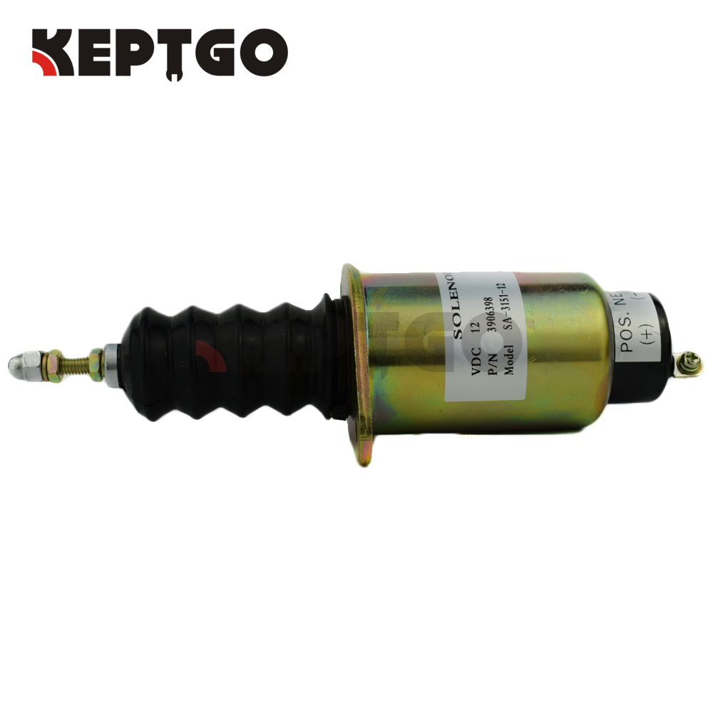 купить 3906398 12V SA-3151-12 Fuel Shutdown Solenoid For Cummins 6CTA 8.3L (1 terminal) в интернет-магазине