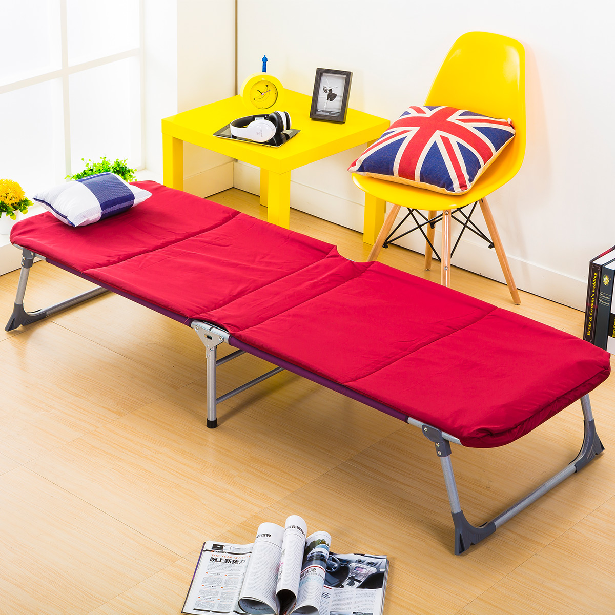 Us 194 85 16 Off New Arrives Simple Folding Bed Noon Break Leisure Household Office Lying Single Bed Outdoor Beach Balcony Sun Chairs In Beds From