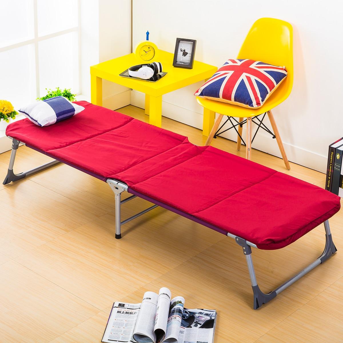 Mobilya'ten Yataklar'de Yeni Geldi Basit katlanır yatak Öğle Yemeği Molası Eğlence Ev Ofis Yalan Tek Kişilik Yatak Açık Plaj Balkon Güneş Sandalyeler title=