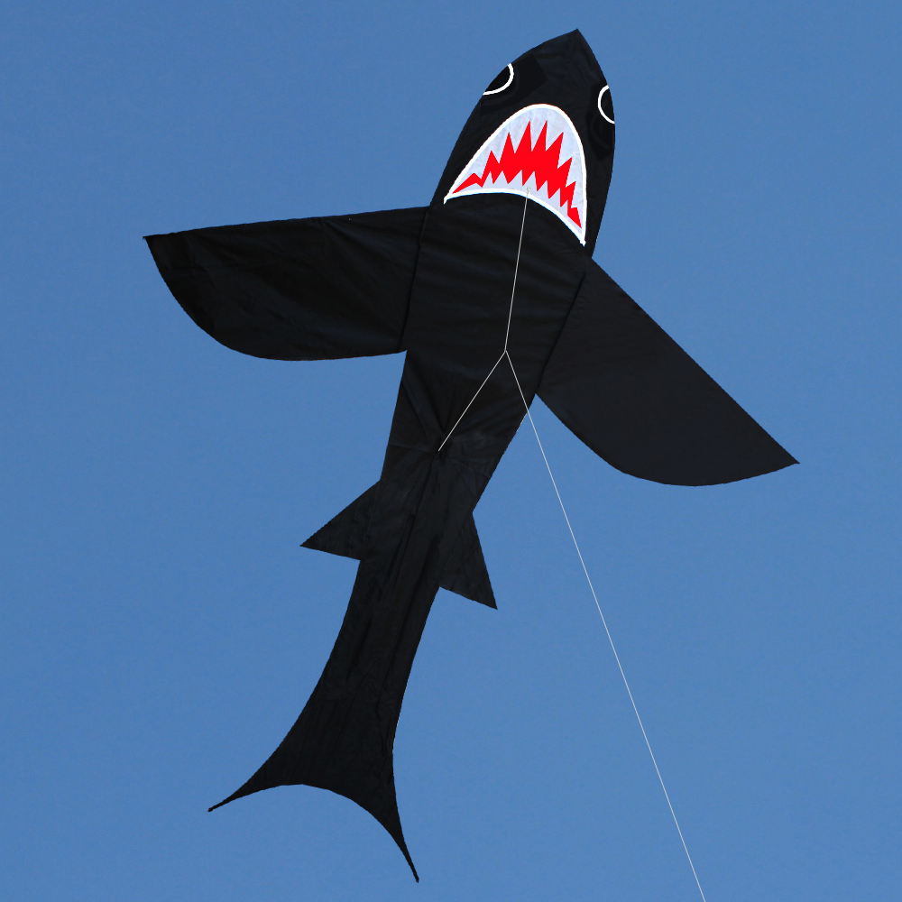69 * 69 Inch Single Line Shark Kite for Kids and Adults Outdoor Beach Flying Kite with String and Handle Дайвинг