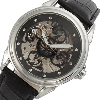 SEWOR męskie zegarki sukienka Rhineston zegarki szkielet męska skórzany pasek zegarka mechaniczne zegarki mężczyźni Мужские часы C898 tanie i dobre opinie Nie wodoodporne Klamra Luxury ru Mechaniczna Ręka Wiatr 25cm Stop Odporny na wstrząsy ROUND 20mm 12mm Akrylowe Papier