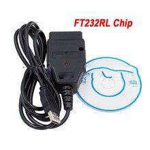 Câble USB OBD2/OBDII avec puce FTDI FT232RL, pour scanner les véhicules de la série VAG, nouveauté