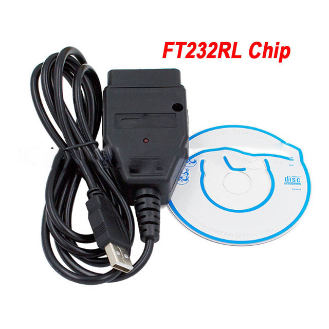 New VAG USB Cable with FTDI FT232RL Chip VAG USB Interface OBD2/OBDII Diagnostic Scan OBD Cable For VAG Series Vehicle