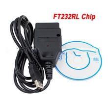 Nowy kabel USB VAG z układem FTDI FT232RL interfejs USB VAG skaner diagnostyczny OBD2/OBDII kabel OBD do pojazdu z serii VAG