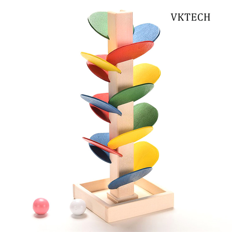 Wooden Toys for Children Colorful Building Blocks Tree Marble Ball Run Track Baby Game Wood Educational Toy Brinquedos wooden tree marble ball run track game baby montessori model building blocks children kids intelligence educational toy