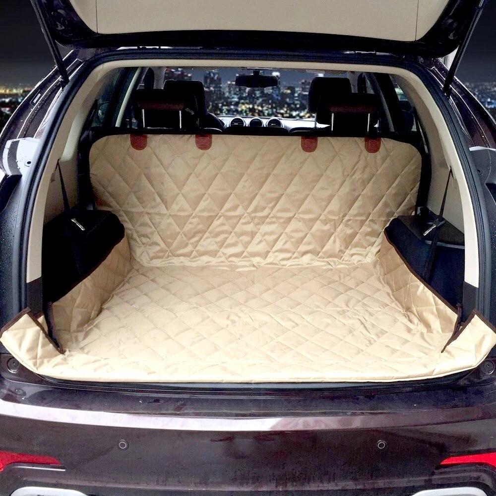 tapis de coffre de voiture pour chien suv double usage doux couverture de siege de voiture pour chien barriere pour animaux de compagnie protege