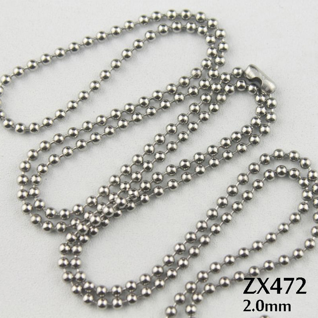beaded necklace chains bead ball chain silver sterling