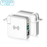 Travelcool USB Charger Qi Wireless Power Bank LED Display 2 USB Charger EU US AU UK Plug Phone Travel Charger Poverbank PD Quick