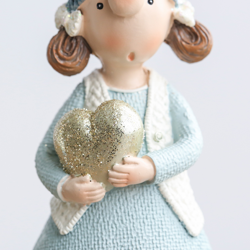 Image 5 - Miz 1 Pair Resin Figurine Christmas Gift Toy for Children Couple Doll Boy & Girl Figure Christmas Decoration Accessoriestoys fortoys for childrentoys toys -