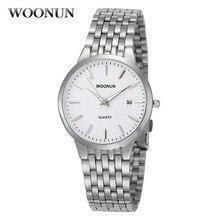 WOONUN Top Brand Luxury Watches Men Waterproof Shockproof Si