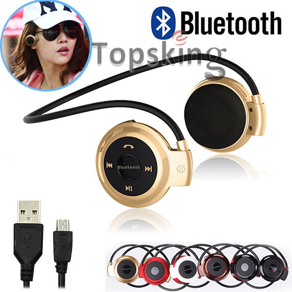 Hot Mini503 BH503 Neckband Mini Wireless Sport Bluetooth Headset/headphone Music Stereo Bluetooth Earphone Micro SD Card Slot