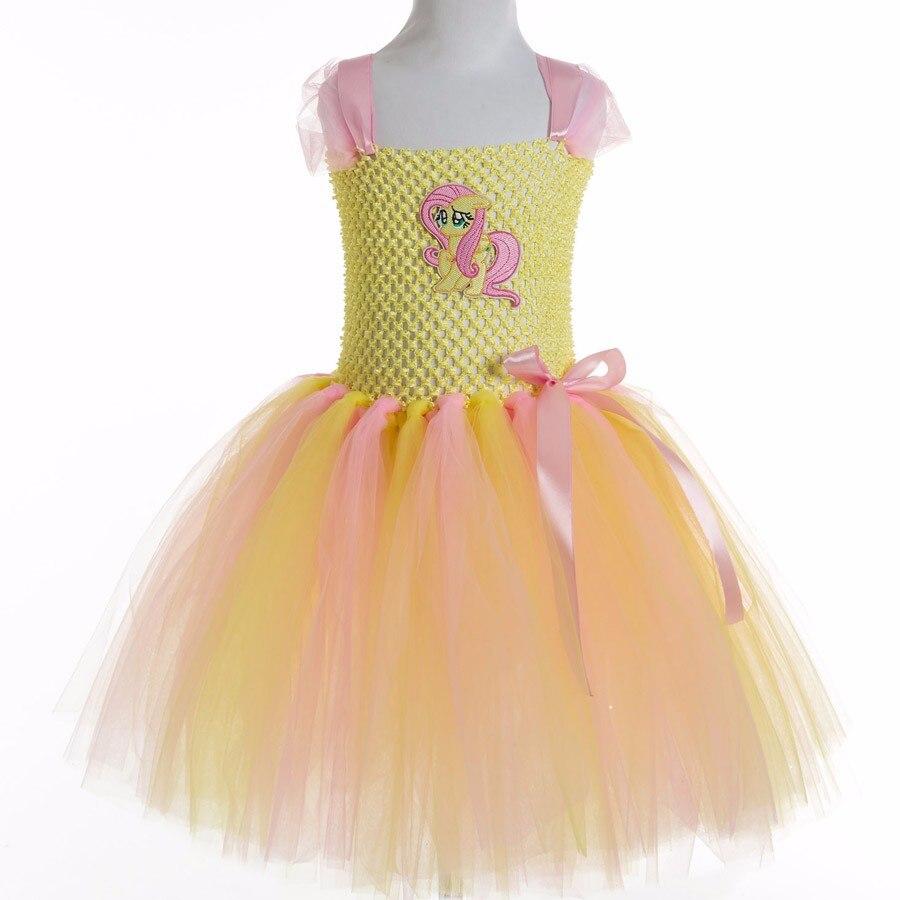 be9f87335 Mi Pequeño Caballo Del Bebé Muchachas Del Vestido Del Tutú Infantil Kids  Party Tul Vestidos de Cumpleaños Para Niñas Traje de Cosplay Vestido de ...