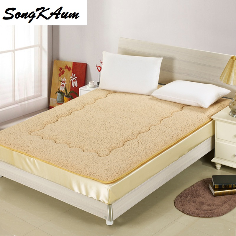 New Warm Winter Mattress Simple Cashmere-like Mattress full/queen/king Size Dormitory Hotel Home Mattress Bedspread Bed Pad