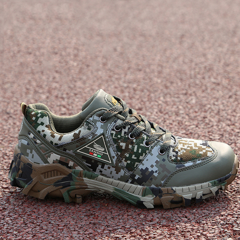 Army camouflage shoes men woodland shoes autumn super light breathable special forces training shoes Lahore