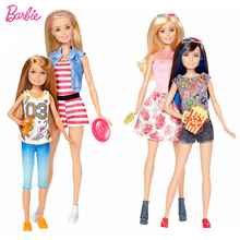 2 Pcs/set Barbie Sister Barbie And Stacie & Skipper Doll With Clothing Gift Set Best Birthday Christmas Gift For Children DWJ63(China)