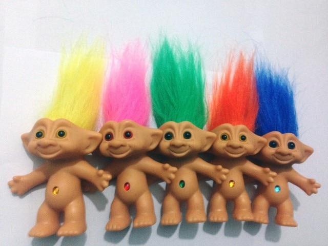 5 Pcs Set Kawaii Classic 80 S Nostalgia Doll Troll Doll Vinyl Ugly