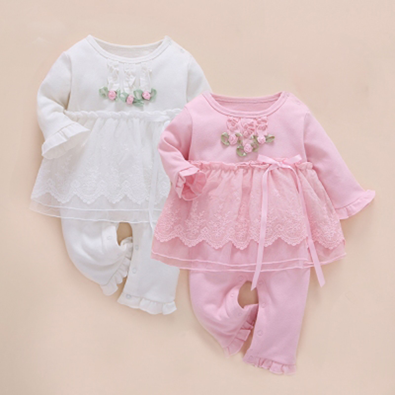 Bebê recém-nascido roupas da menina infantil definir gêmeos um ano robe inverno 2017 bebê macacão de manga longa algodão infantil