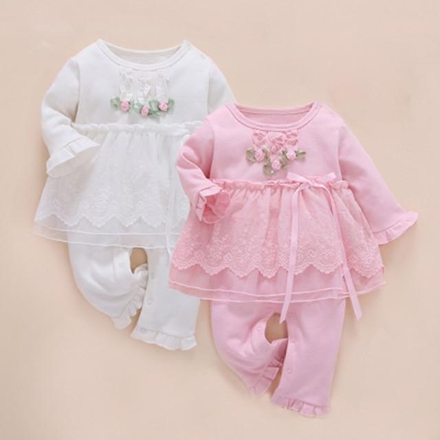 Bebê recém-nascido menina conjunto roupa infantil gêmeos um anos robe  inverno 2017 macacão de e0af6e3be19